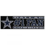 "Fanatics Dallas Cowboys 3"" x 10"" #1 Fan Die Cut Decal"