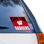 Fanatics Wisconsin Badgers 5'' x 6'' Fear The Badgers Decal