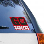 Fanatics Wisconsin Badgers 5'' x 6'' Go Badgers Decal