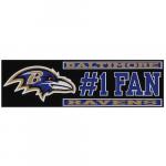 "Fanatics Baltimore Ravens 3"" x 10"" #1 Fan Die Cut Decal"