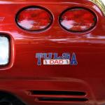 Fanatics Tulsa Golden Hurricane Dad Car Decal