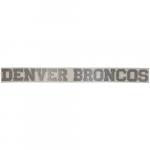 "Fanatics Denver Broncos 2"" x 19"" Glitter Strip Decal - Silver"