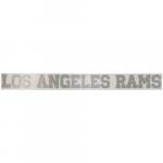 "Fanatics Los Angeles Rams 2"" x 19"" Glitter Strip Decal - Silver"