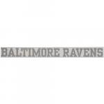 "Fanatics Baltimore Ravens 2"" x 19"" Glitter Strip Decal - Silver"