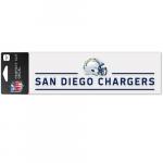 "Fanatics San Diego Chargers WinCraft 3"" x 10"" Helmet Perfect Cut Decal"