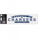 """Fanatics San Diego Chargers WinCraft 3"""" x 10"""" Property Of Perfect Cut Decal"""