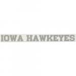 """Fanatics Iowa Hawkeyes 2"""" x 19"""" Silver Glitter Strip Decal"""