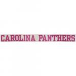 """Fanatics Carolina Panthers 2"""" x 19"""" Glitter Strip Decal - Pink"""