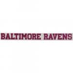 "Fanatics Baltimore Ravens 2"" x 19"" Glitter Strip Decal - Pink"