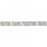 "Fanatics Notre Dame Fighting Irish 2"" x 19"" Silver Glitter Strip Decal"