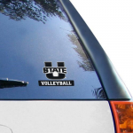 "Fanatics Utah State Aggies WinCraft 4"" x 7"" Perfect Cut Volleyball Decal"