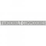 "Fanatics Vanderbilt Commodores 2"" x 19"" Silver Glitter Strip Decal"