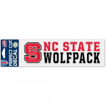 """Fanatics NC State Wolfpack WinCraft 3"""" x 10"""" Stacked Perfect Cut Decal"""