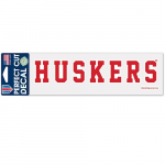 "Fanatics Nebraska Cornhuskers WinCraft 3"" x 10"" Team Name Perfect Cut Decal"