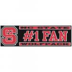 "Fanatics NC State Wolfpack 3"" x 10"" #1 Fan Die Cut Decal"