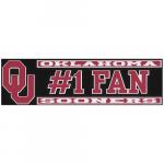 "Fanatics Oklahoma Sooners 3"" x 10"" #1 Fan Die Cut Decal"