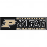 "Fanatics Purdue Boilermakers 3"" x 10"" #1 Fan Die Cut Decal"