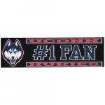 "Fanatics UConn Huskies 3"" x 10"" #1 Fan Die Cut Decal"