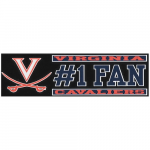 "Fanatics Virginia Cavaliers 3"" x 10"" #1 Fan Die Cut Decal"