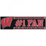 "Fanatics Wisconsin Badgers 3"" x 10"" #1 Fan Die Cut Decal"
