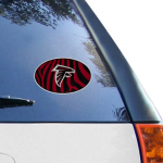 Fanatics Atlanta Falcons 6'' x 6'' Zebra Die-Cut Repositionable Vinyl Decal