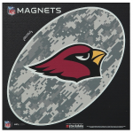 "Fanatics Arizona Cardinals 6"" x 6"" Digi Camo Oval Car Magnet"