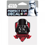 "Fanatics Wisconsin Badgers WinCraft 4"" x 4"" Star Wars Perfect Cut Darth Vader Decal"