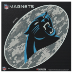 "Fanatics Carolina Panthers 6"" x 6"" Digi Camo Oval Car Magnet"