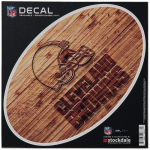 """Fanatics Cleveland Browns 6"""" x 6"""" Wood Oval Repositionable Decal"""