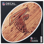 "Fanatics Atlanta Falcons 6"" x 6"" Wood Oval Repositionable Decal"
