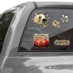 Fanatics New Orleans Saints WinCraft Prismatic 11'' x 4'' Decal Sheet