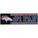 """Fanatics Denver Broncos 3"""" x 10"""" #1 Fan Die Cut Decal"""