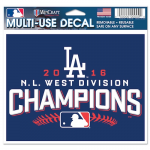 Fanatics Los Angeles Dodgers WinCraft 2016 NL West Division Champions 4'' x 6'' Multi-Use Decal