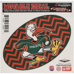 Fanatics Miami Hurricanes 6'' x 6'' Chevron Die-Cut Repositionable Vinyl Decal