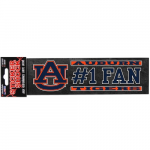 "Fanatics Auburn Tigers 3"" x 10"" #1 Fan Die Cut Decal"