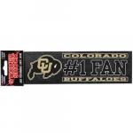 "Fanatics Colorado Buffaloes 3"" x 10"" #1 Fan Die Cut Decal"