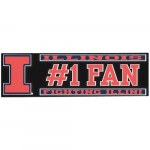 """Fanatics Illinois Fighting Illini 3"""" x 10"""" #1 Fan Die Cut Decal"""