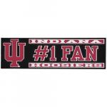 """Fanatics Indiana Hoosiers 3"""" x 10"""" #1 Fan Die Cut Decal"""