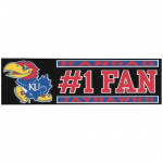 "Fanatics Kansas Jayhawks 3"" x 10"" #1 Fan Die Cut Decal"