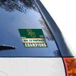 "Fanatics Baylor Bears 2013 Big 12 Football Champions 4.5"" x 6"" Ultra Decal Cling"