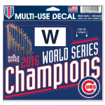 "Fanatics Chicago Cubs WinCraft 2016 World Series Champions 4"" x 6"" Multi-Use Decal"