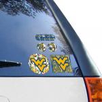 "Fanatics West Virginia Mountaineers WinCraft Prismatic 4"" x 11"" Decal"