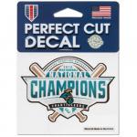 Fanatics Coastal Carolina Chanticleers WinCraft 2016 NCAA Men's Baseball College World Series National Champions 4'' x 4'' Perfect Color Decal