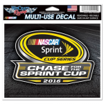 """Fanatics NASCAR WinCraft 2016 Chase for the Sprint Cup 5.75"""" x 5"""" Multi-Use Decal"""