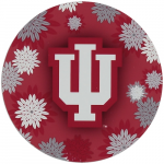 """Fanatics Indiana Hoosiers 4"""" Floral Round Decal"""