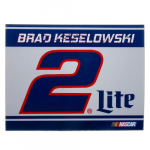 "Fanatics Brad Keselowski 5"" x 6"" Racing Stripe Car Magnet"