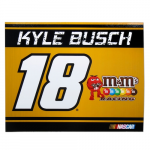 "Fanatics Kyle Busch 5"" x 6"" Racing Stripe Car Magnet"