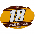 "Fanatics Kyle Busch 2016 5"" x 6"" Swirl Racing Stripe Car Decal"