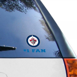 "Fanatics Winnipeg Jets WinCraft #1 Fan 3"" x 4"" Decal"