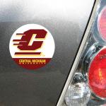 """Fanatics Cent. Michigan Chippewas WinCraft 4"""" Die Cut Car Magnet"""